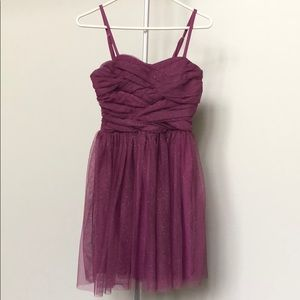 BCX Dress Sz 1 Sparkly Cocktail Dress Mauve